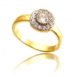 Złoty olśniewający pierścionek