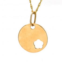 Ozdobne złote kółko z łańcuszkiem