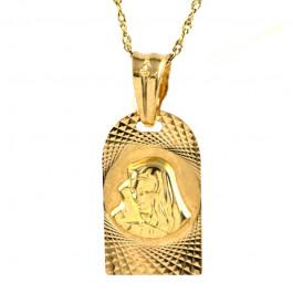 Elegancki medalik w komplecie z łańcuszkiem