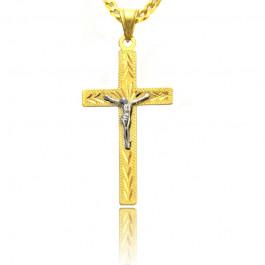 Złoty diamentowany krzyżyk