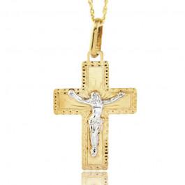Śliczny złoty krzyżyk z łańcuszkiem