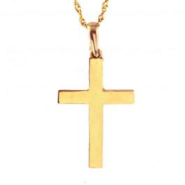 Tradycyjny złoty komplet z krzyżykiem