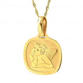 Klasyczny złoty komplet zawieszka z łańcuszkiem