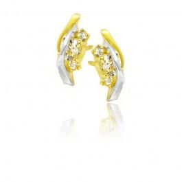 Kolczyki z biało-żółtego złota