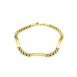 Elegancka złota bransoletka ozdobiona blaszkami