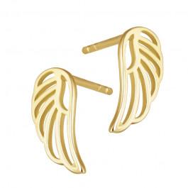 Modne złote kolczyki skrzydła