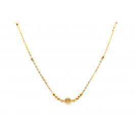 Złoty naszyjnik celebrytka 585  diamentowane kuleczki