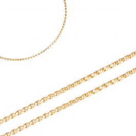 Niebanalny złoty łańcuszek o połyskującej powierzchni Prezent Grawer GRATIS