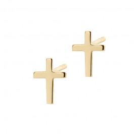 Złote kolczyki modne Krzyżyki Prezent Grawer GRATIS