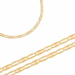 Niezwykły złoty łańcuszek z białym i różowym złotem Prezent Grawer GRATIS