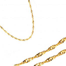 Złoty efektowny łańcuszek