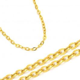 Złoty żółty łańcuszek ankier