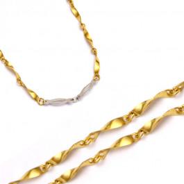 Złoty łańcuszek fantazyjny