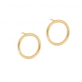 Eleganckie złote kolczyki Kółka Grawer GRATIS