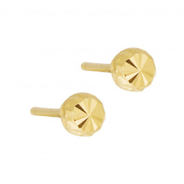 Subtelne złote kolczyki diamentowane kulki Grawer GRATIS