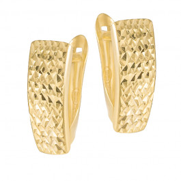 Eleganckie lśniące złote kolczyki Prezent Grawer GRATIS