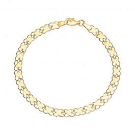 Niecodzienna złota bransoletka z Serduszkami Grawer GRATIS