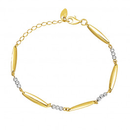 Elegancka złota bransoletka z białym złotem Grawer GRATIS