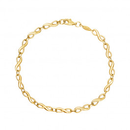 Złota bransoletka Znak Nieskończoności