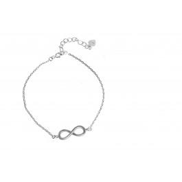Srebrna bransoletka celebrytka znak nieskończoności
