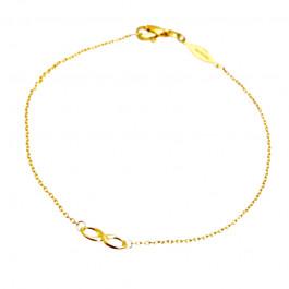 Bransoletka złota ze znakiem nieskończoności