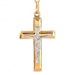 Masywny złoty krzyżyk z łańcuszkiem