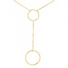 Złoty naszyjnik łańcuszek z kółkiem