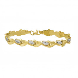 Niesamowicie ozdobna złota bransoletka Prezent Grawer GRATIS
