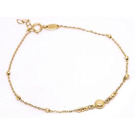 Złota bransoletka 585 z kuleczkami