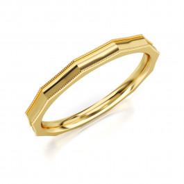 Pierścionek złoty, obrączka geometryczny kształt
