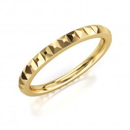 Pierścionek złoty, obrączka unikalnie zdobiona