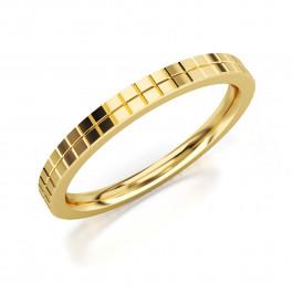 Pierścionek złoty, nowoczesna obrączka