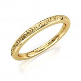 Pierścionek złoty, obrączka fantazyjna