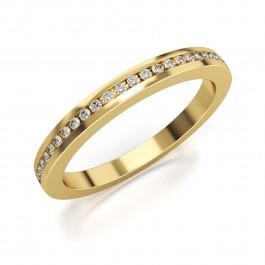 Pierścionek złoty, szykowna obrączka