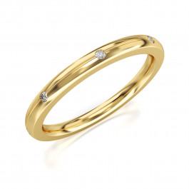 Subtelny złoty pierścionek