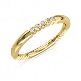 Złoty pierścionek, obrączka z cyrkoniami