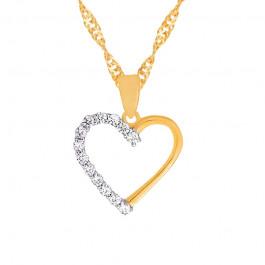 Złoty łańcuszek serce z cyrkoniami prezent