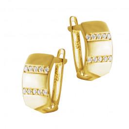 Złote kolczyki z cyrkoniami Prezent Grawer GRATIS