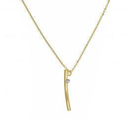 Złoty naszyjnik w subtelnym kształcie V Prezent Grawer GRATIS