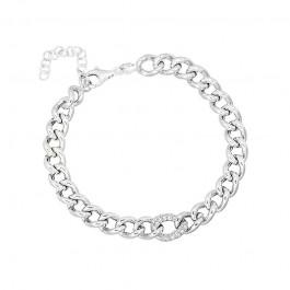 Srebrna bransoletka ozdobny łańcuch