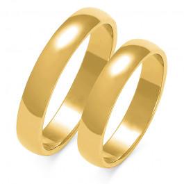 Obraczki ślubne złote, pólokrągłe, 4 mm
