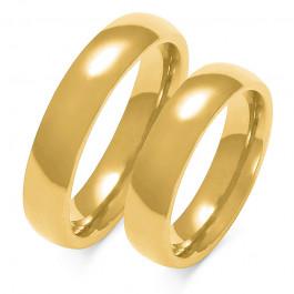 Obraczki ślubne złote, pólokrągłe, 4,50 mm