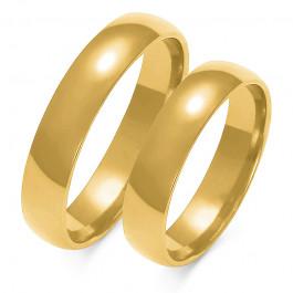 Obraczki ślubne złote, pólokrągłe, 5,00 mm