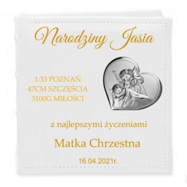 ALBUM Z OBRAZKIEM SREBRNYM CHRZEST, URODZINY