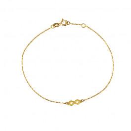 Złota bransoletka z modnym znakiem nieskończoności Grawer GRATIS