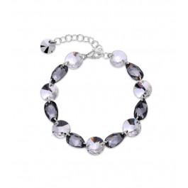 Bransoletka SPARK na łańcuszku z kryształów Swarovski® w kolorach Crystal i Silver Night