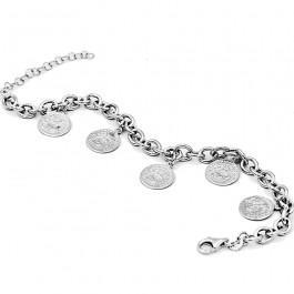 Srebrna bransoletka z monetami