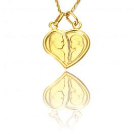 Złota zawieszka w kształcie serca