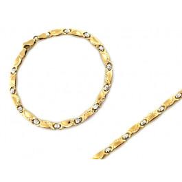 Bransoletka złota dwukolorowa elementowa