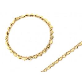 Złota bransoletka z małych serduszek